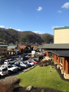Traffic on Main St. Gatlinburg TN